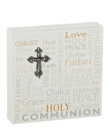 'First Holy Communion' Desk Plaque