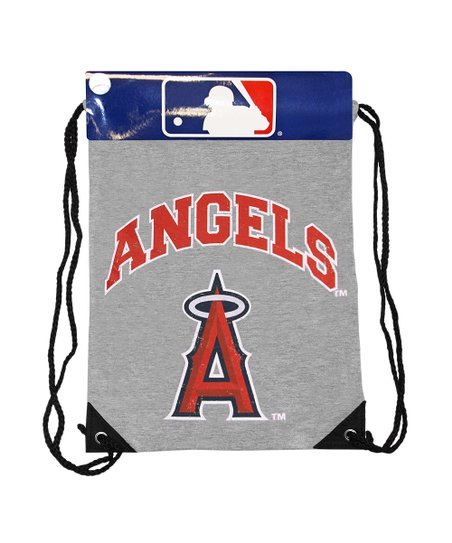 Los Angeles Angels Gray Practice Drawstring Backpack
