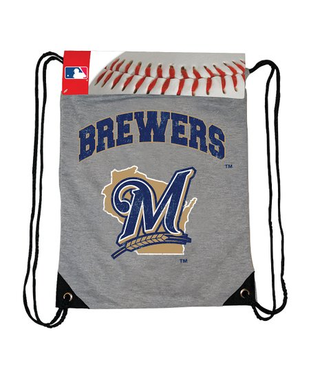 Gray Milwaukee Brewers Practice Drawstring Backpack