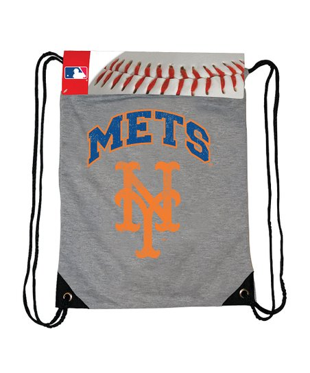 New York Mets Gray Practice Drawstring Backpack