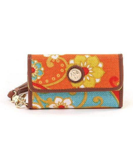 Red & Orange Fiddler's Cove Phone Wristlet