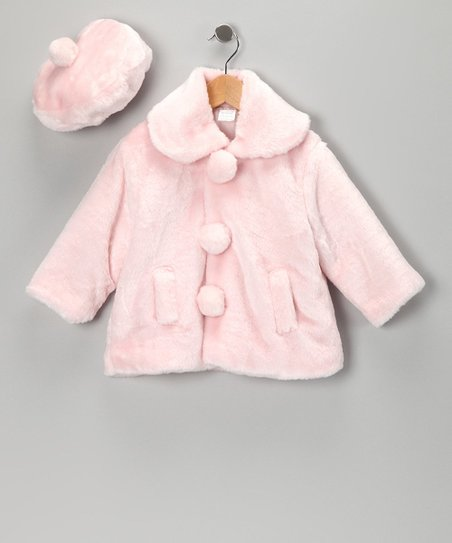 Pink Coat & Beret - Infant, Toddler & Girls