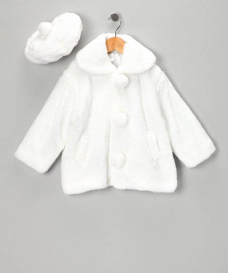 White Coat & Beret - Infant, Toddler & Girls