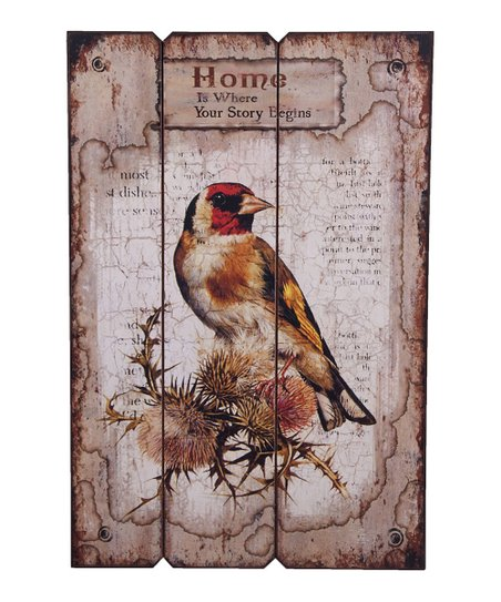 'Home Is Where Your Story Begins' Wood Bird Wall Art