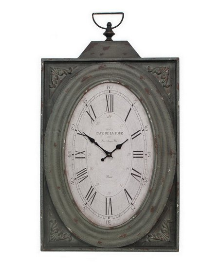 Antique Rectangular Wall Clock