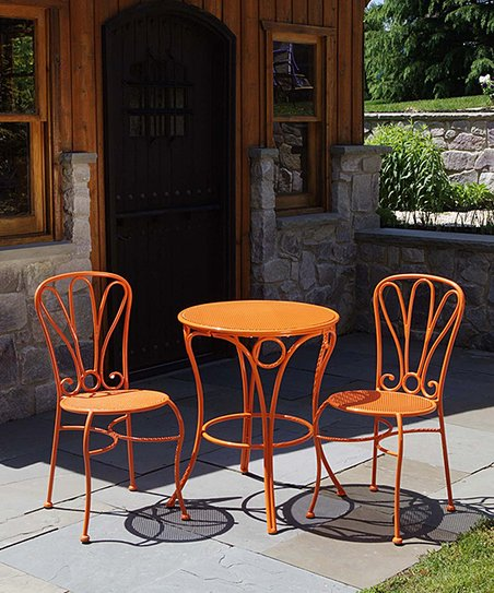Cupcake Tangerine Bistro Set
