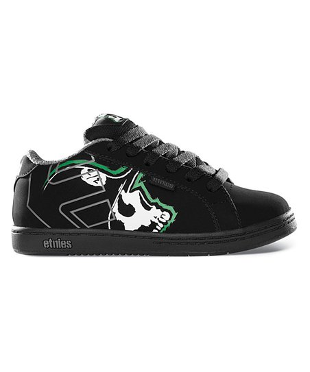 etnies Black & Green Metal Mulisha Fader Sneaker