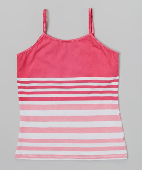 Rose & Pink Stripe Camisole