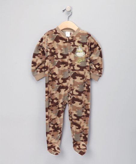 Camo 'Grinch' Fleece Footie - Infant
