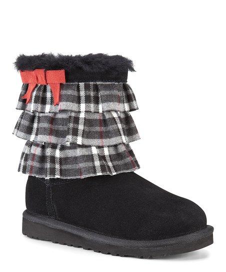 Black Plaid Eloise Suede Boot
