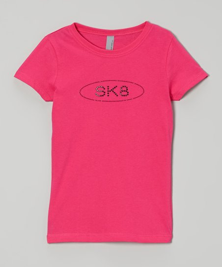Raspberry Rhinestone 'Sk8' Tee – Girls & Women