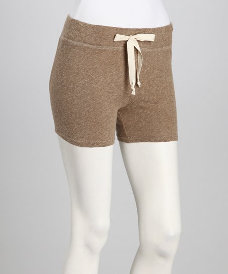 Brown Mlange Drawstring Shorts