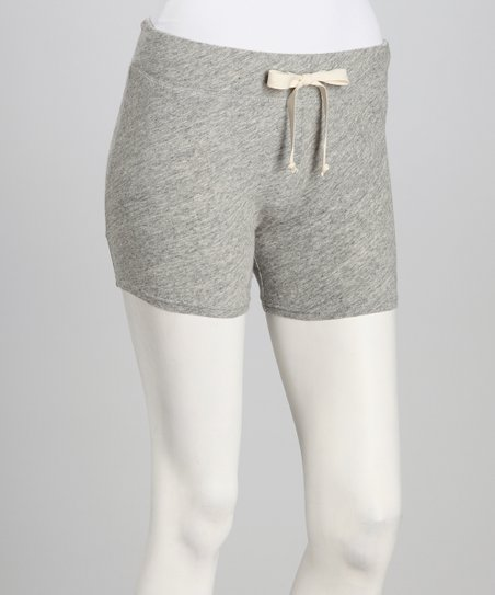 Heather Gray Drawstring Shorts