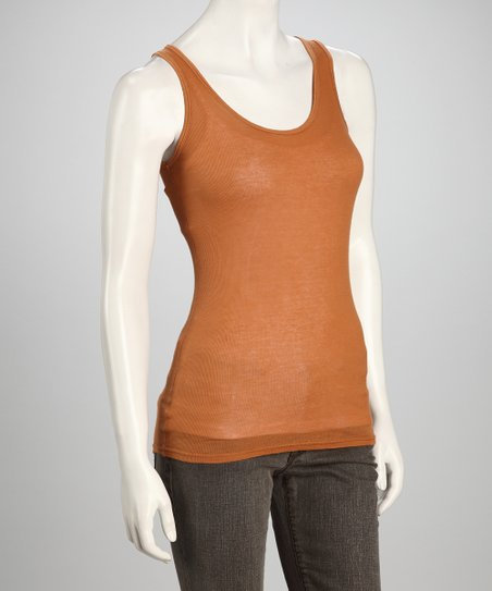 Rust Sleeveless Tunic