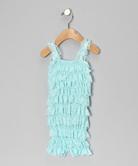 Aqua Ruffle Romper - Infant & Toddler