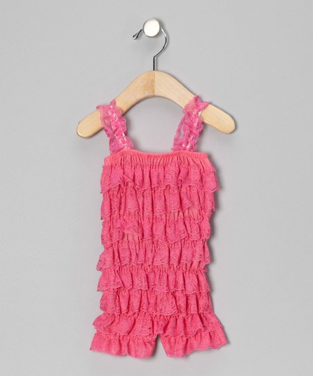 Bubble Gum Pink Ruffle Romper - Infant & Toddler