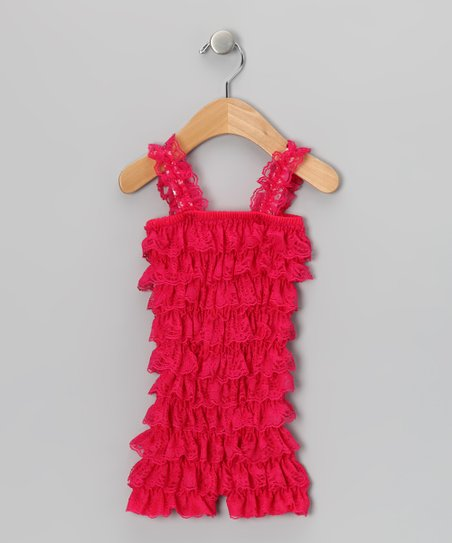 Hot Pink Ruffle Romper - Infant &amp; Toddler