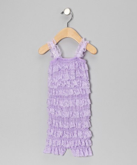 Lavender Ruffle Romper - Infant & Toddler