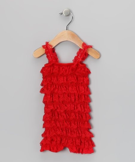 Red Ruffle Romper - Infant & Toddler