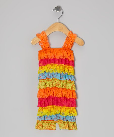 Rainbow Ruffle Romper - Infant & Toddler