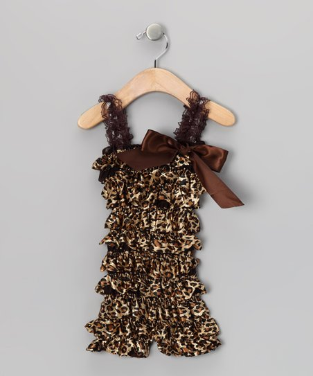 Cheetah Ruffle Romper - Infant & Toddler