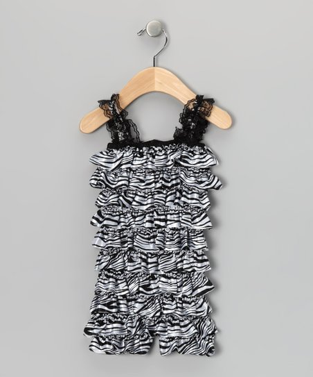 Zebra Ruffle Romper - Infant & Toddler