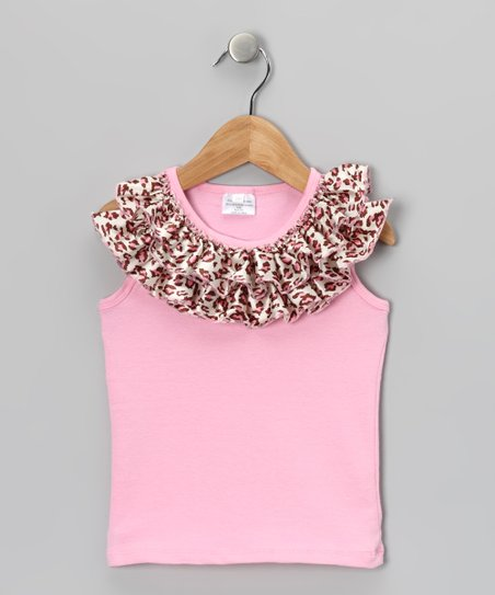 Pink Cheetah Ruffle Tank - Infant, Toddler &amp; Girls