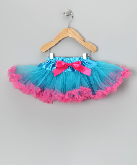 Turquoise & Bubblegum Bow Pettiskirt - Infant, Toddler & Girls
