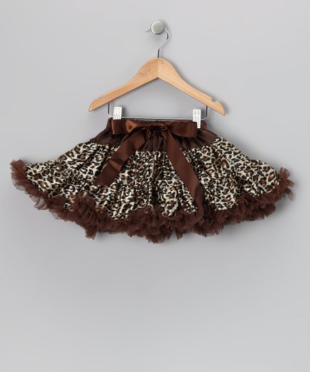 Cheetah &amp; Chocolate Bow Pettiskirt - Infant, Toddler &amp; Girls
