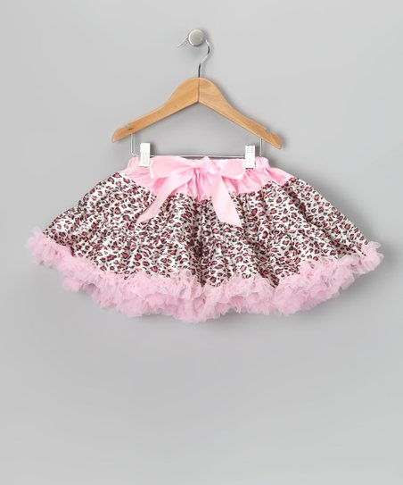 Pink Cheetah Bow Pettiskirt - Infant, Toddler & Girls