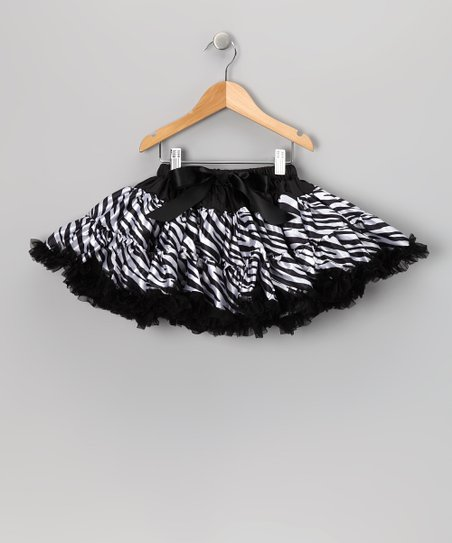 Zebra Bow Pettiskirt - Toddler &amp; Girls