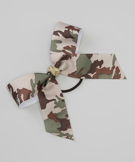 Brown Camo Hair Tie