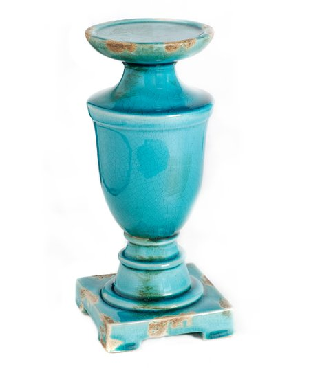 Blue Ceramic Urn Candle Holder