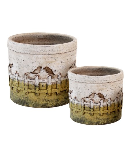 Bird Finching Planter Set