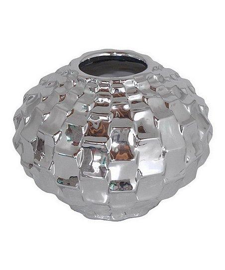 Silver Geometric Texture Vase