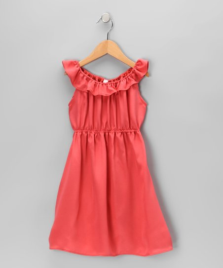 Azalea Ruffle Collar Silk Dress - Toddler &amp; Girls