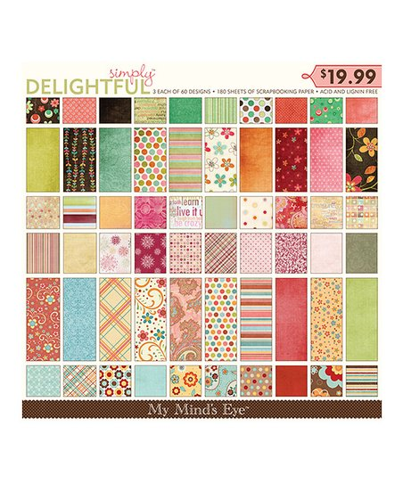 Simply Delightful 180-Page Scrapbook Paper Pad