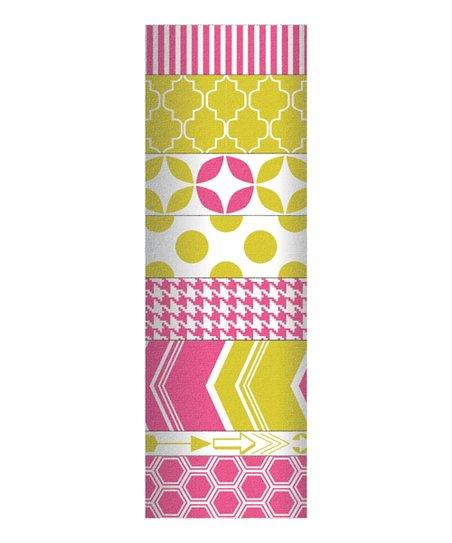 Pink & Yellow Decorative Tape Set