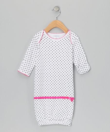 Raspberry Truffle Dot Gown - Infant