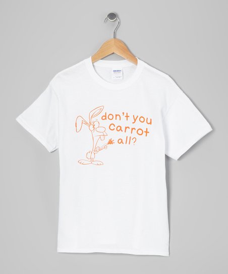 White 'Don't You Carrot All' Tee - Toddler & Kids