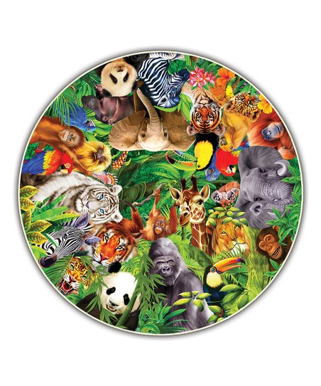 Wild Animal Puzzle Family Round Table Puzzle