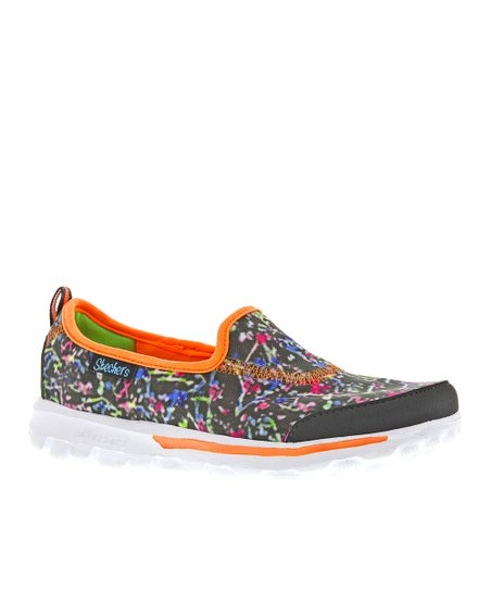 Gray Paint Splatter Go Walk Slip-On Shoe