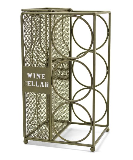 Metal Cork Cage & Wine Bottle Caddy