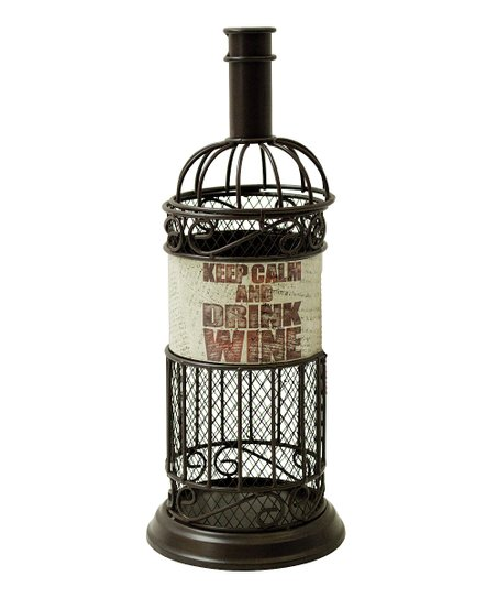 'Keep Calm' Metal Cork Cage