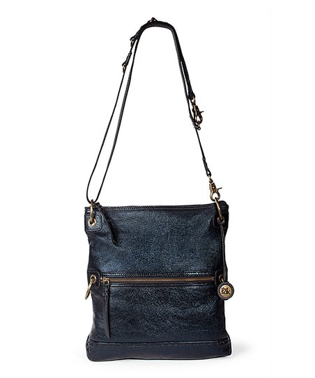 Black Onyx Pax Leather Fold-Over Convertible Crossbody Bag