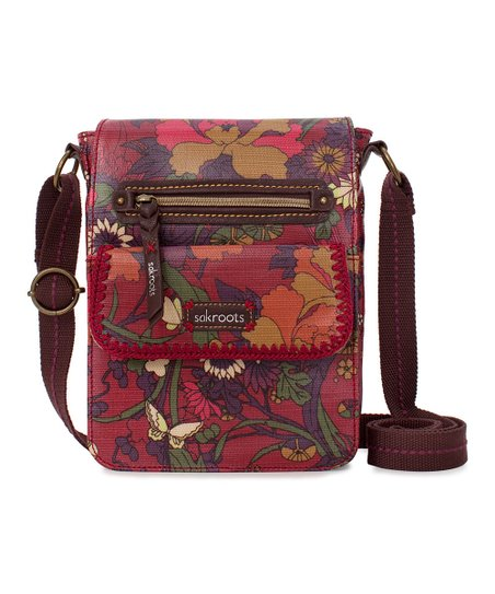 Scarlet Flower Power Artist Circle Messenger Bag