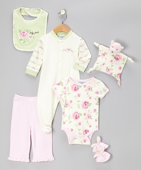 Pink 'Baby Girl' Seven-Piece Layette Set - Infant