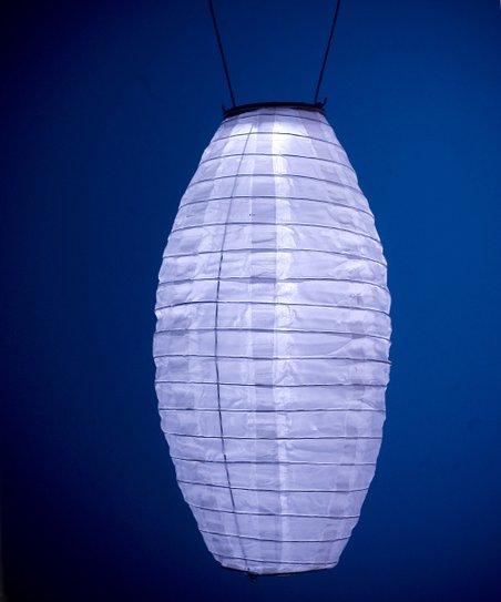 White Soji Solar Lantern Pod