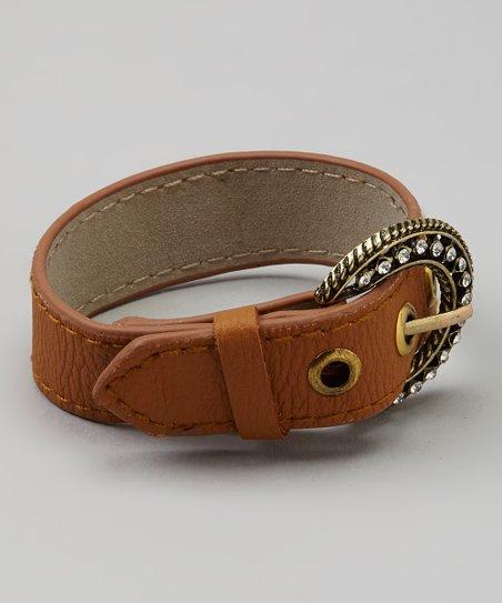Brown Shimmer Belt Bracelet