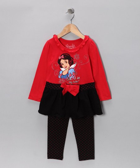 Red Snow White Tunic & Leggings - Toddler